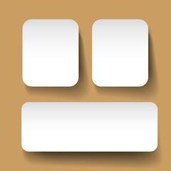 Blank business labels mock-up