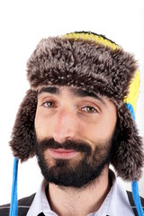 Man with winter hat