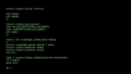 Source code big characters