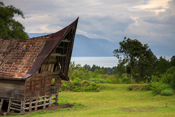 Traditional Batak house in Northern Sumatra