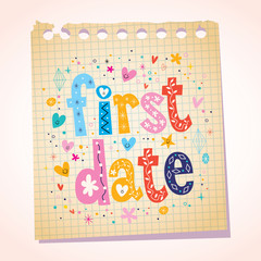 first date notepad paper message reminder