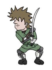 funny samurai draw