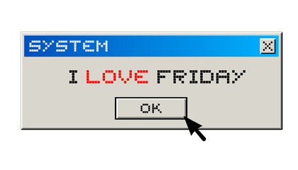 I love friday message