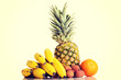 Composition of fresh exotic fruits.