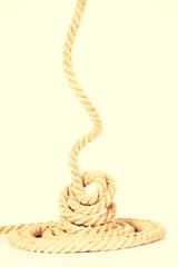 Enrolled rope.
