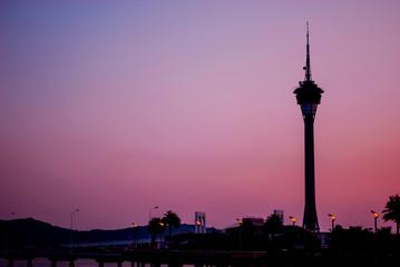 Macau Tower Silhouette