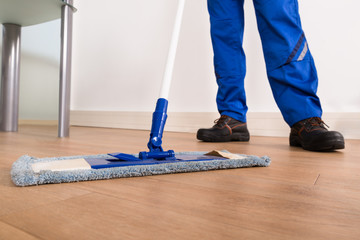 Janitor Mopping