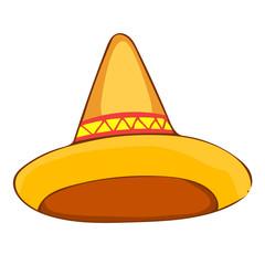 sombrero straw hat isolated illustration