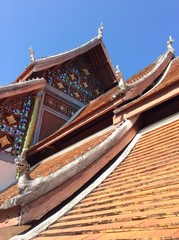 Roof , a part of pavillion in temple of Thailand