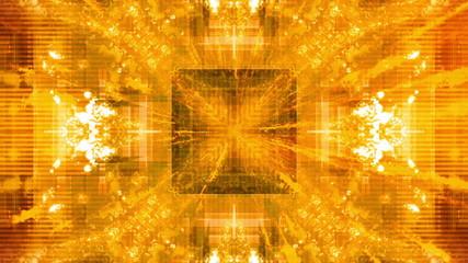 Yellow Orange Geometric Looping Animated Background