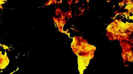 Burning Earth Looping Animated Background