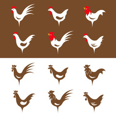 Vector group image of an chicken design