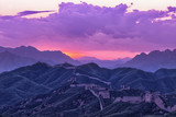 greatwall,the landmark of china,with sunset skyline