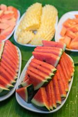 Fresh fruits on dish
