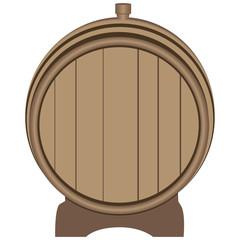 Wooden barrel plugged plug