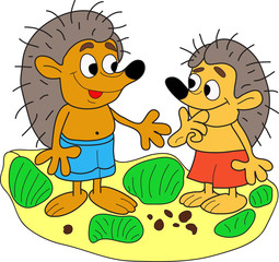Two hedgehog.