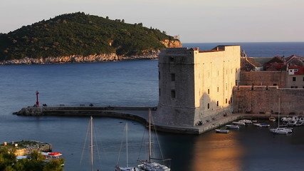 Dubrovnik old town harbor