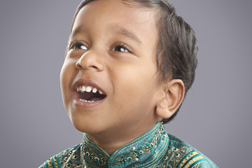 Indian Little Boy with Traditional Dress
