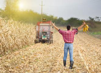 Satisfied farmer