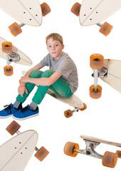 Kind und Longboard