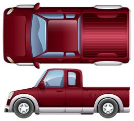 A pickup vehicle