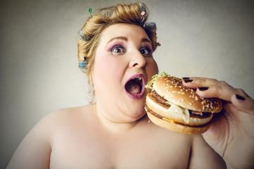 A tasty hamburger