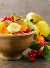 Fresh organic fruit salad