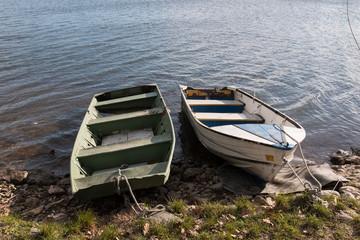 barche sul lago di Pusiano