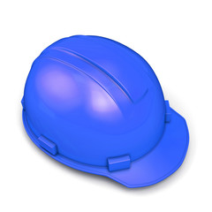 Blue construction helmet