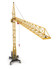 Construction crane, view from the bird's-eye view