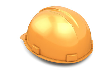Construction helmet back view