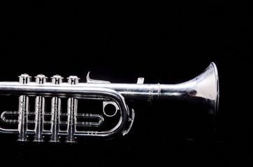 Silver Vintage Toy Trumpet