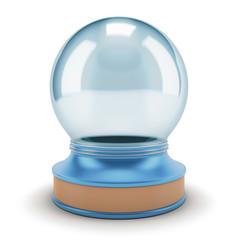 Visualization of an empty snow globe.