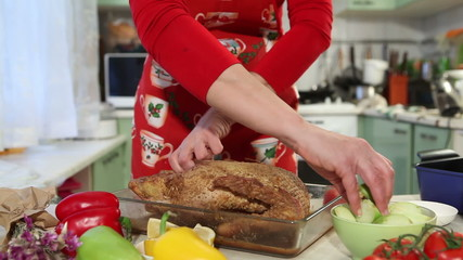 workflow Christmas cooking, oven baked duck