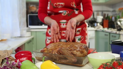 workflow Christmas cooking, oven baked duck. part