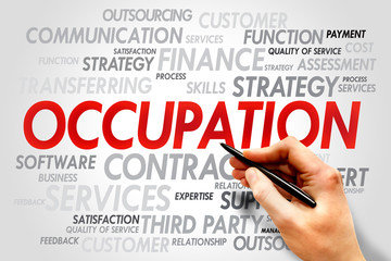 OCCUPATION word cloud, business concept