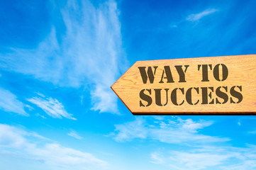 Arrow sign with Way to success message