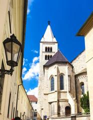 Basilica and monastery of Saint George in Prague Castle, Czech R