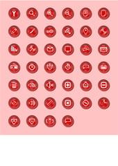 40 web madia icons