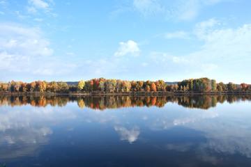 autumn landscape river