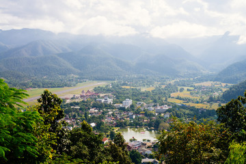 City view of Mae Hong Son, Thailand.
