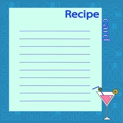 recipe blank. vector illustration