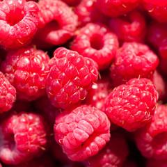 Raspberry closeup
