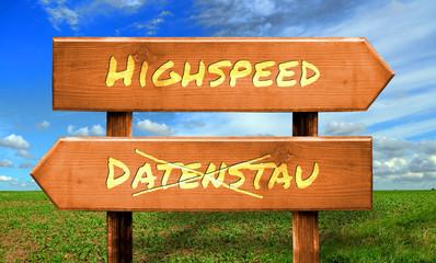 Strassenschild 33 - Highspeed
