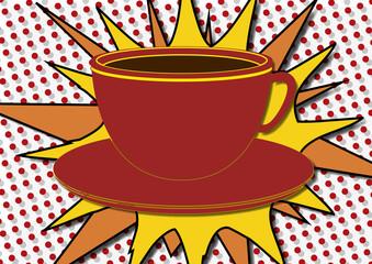 Tasse de café pop art