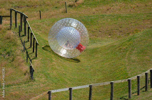 Fotobehang Nieuw Zeeland OGO Zorbing Rotorua - New Zealand