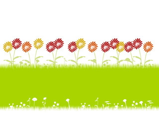 Spring flowers pattern illustration.