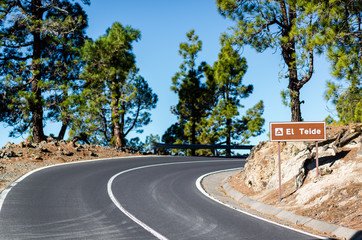 Road to Volcano Teide at Tenerife
