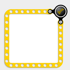 yellow frame for text with screws and check box