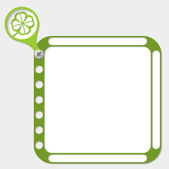 perforated frame for any text and cloverleaf